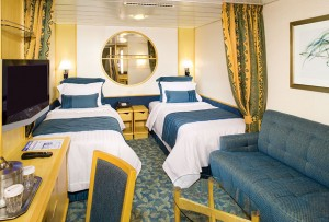 Onboard, stateroom, Freedom of the Seas, oceanview or ocean view, bedding, LB, Freedom class, boat, cabin